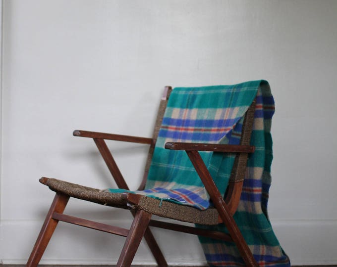 Plaid wool blanket | 100% lambswool blanket | made in Scotland | Johnstons of Elgin wool blanket | Able Shoppe