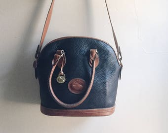 black and brown Dooney & Bourke bag | DOONEY AND BOURKE purse |  vintage dooney and bourke | Able shoppe | Dooney and Bourke handbag