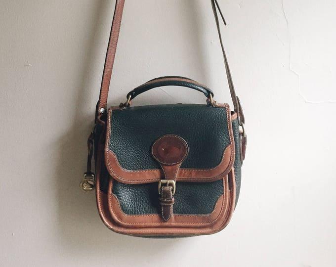 Dark green and brown Dooney & Bourke bag | DOONEY AND BOURKE purse |  vintage dooney and bourke | Able shoppe | Dooney and Bourke handbag