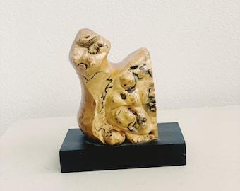 Burl wood sculpture