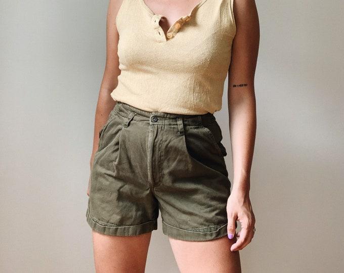 """27"""" vintage olive shorts"""