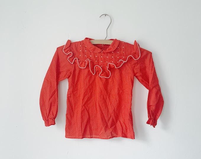 Vintage ruffle baby shirt