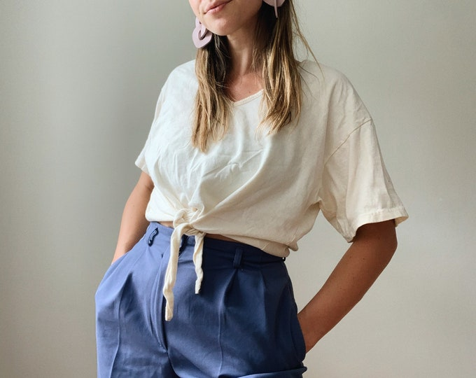 Cotton cropped tie top made in the USA