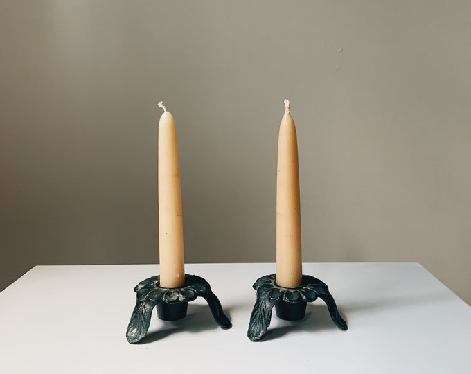 Vintage Japanese candle holder set