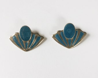 vintage statement earrings   shell earrings   statement earrings   large earrings   Able Shoppe