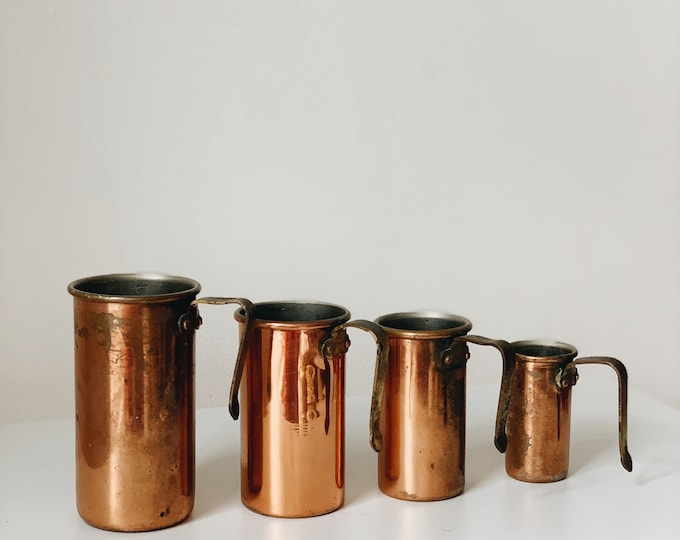 Vintage copper measuring cups