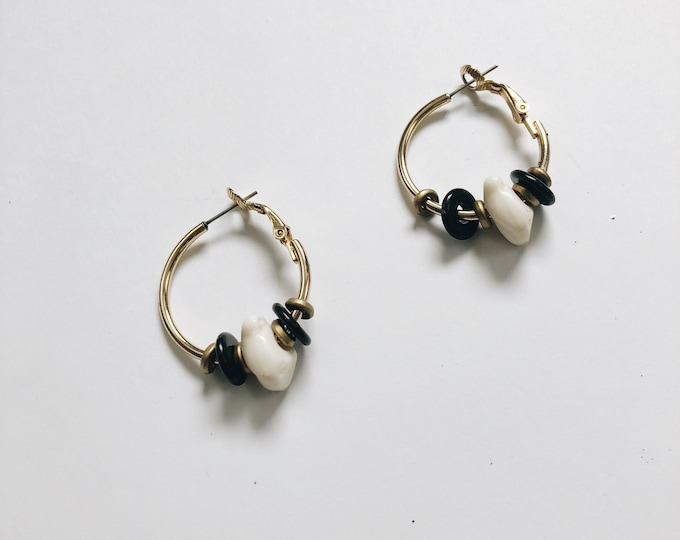 vintage statement earrings | pierced earrings | hoop earrings | Able Shoppe