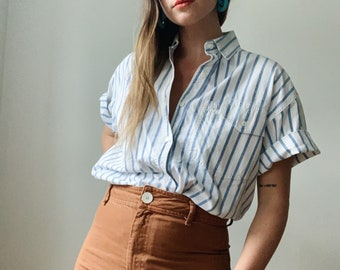 Vintage striped blouse