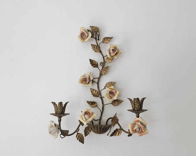 Antique rose sconce