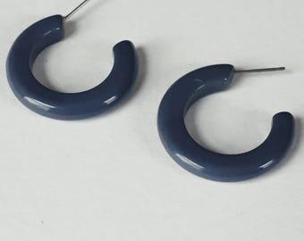 HATTIE EARRINGS | vintage grey hoop earrings | pierced earrings | statement earrings | vintage earrings | Able Shoppe