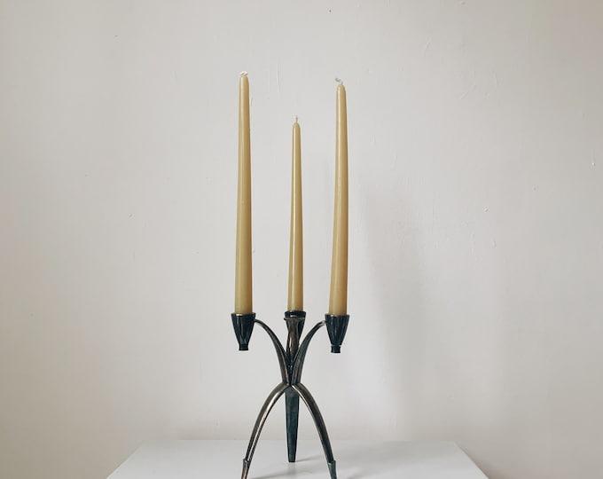 Mid-century modern Heirloom tripod candelabra