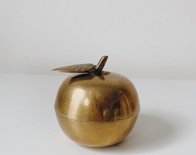 Mid century brass apple container