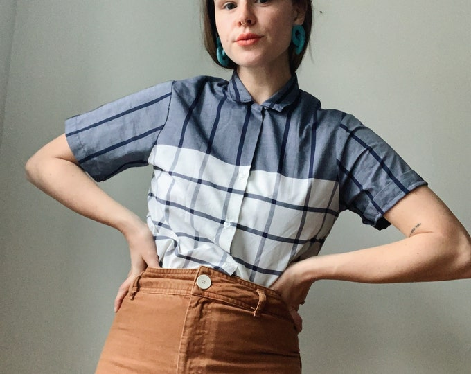 Vintage striped Blouse made in the USA