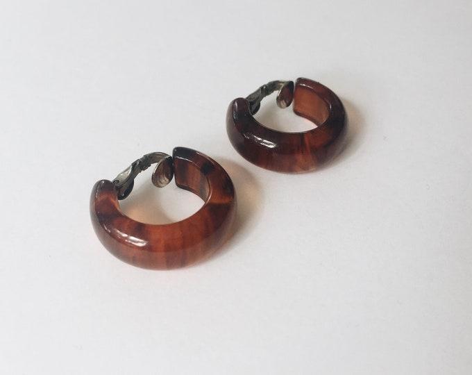 vintage statement earrings | hoop earrings| clip on earrings | statement earrings | clip on hoops | Able Shoppe