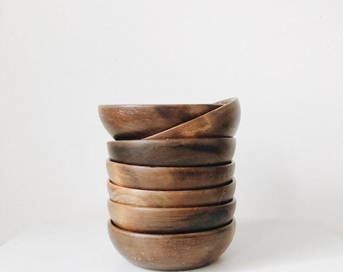 Vintage Japanese wooden bowls