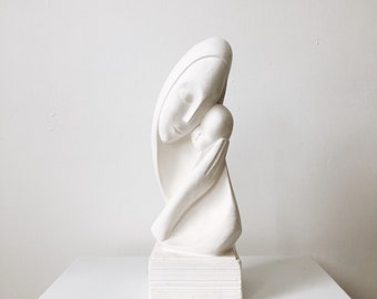 Mother and baby sculpture | human figure sculpture | mother and baby decor | ABLE SHOPPE