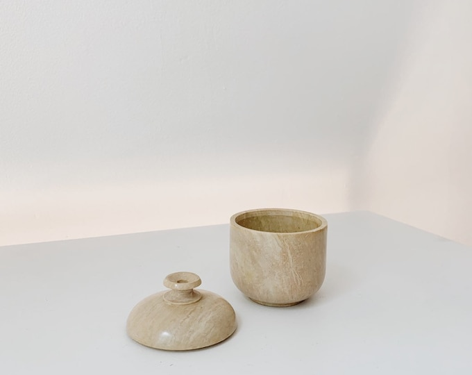 Vintage marble container | stone container | marble jewelry holder
