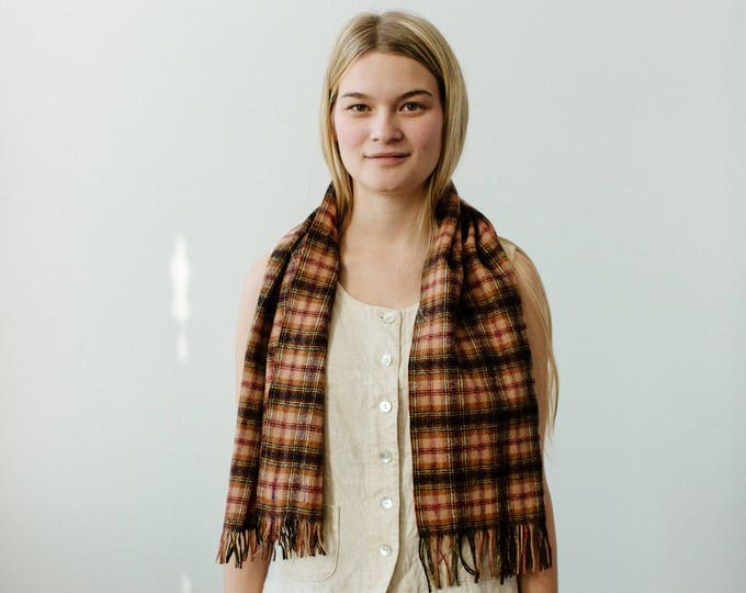 vintage pendleton wool scarf   able shoppe