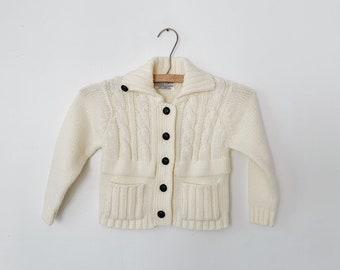 vintage baby white cardigan
