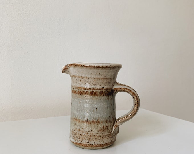 Vintage handmade small ceramic pitcher