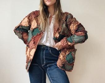 Handmade vintage quilted coat