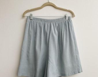 Vintage blue gingham shorts