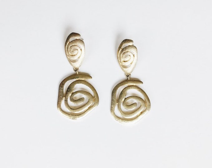 gold shapes earrings | pierced earrings | statement earrings | 90s earrings | Able Shoppe