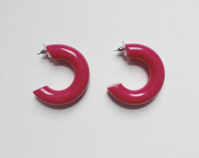 vintage statement earrings | hoop earrings| pierced earrings | statement earrings | large hoops | Able Shoppe