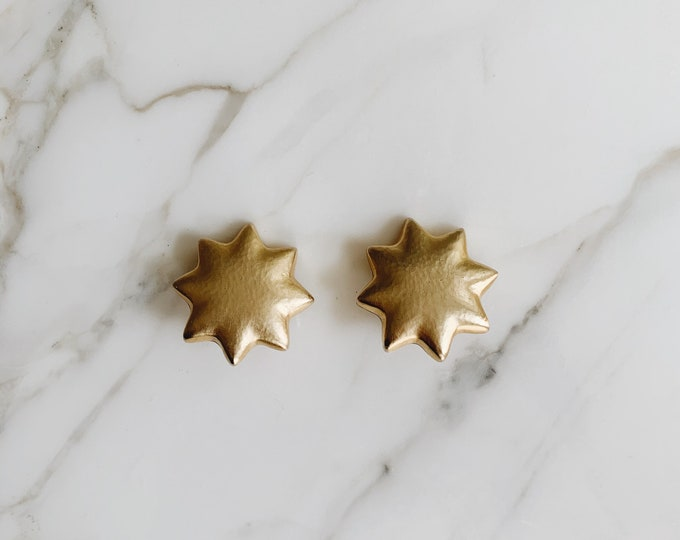 Vintage star clip on earrings