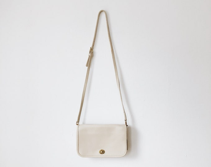 Vintage white coach purse
