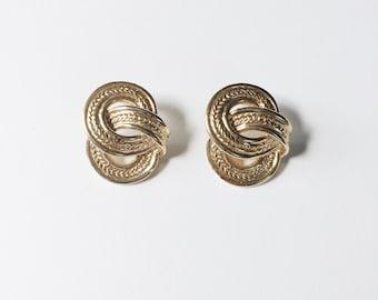 vintage statement earrings   gold knot earrings   pierced earrings   statement earrings   Able Shoppe