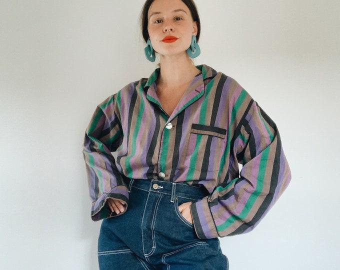 Vintage Christian Dior striped sleep shirt