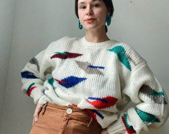Vintage deadstock abstract sweater