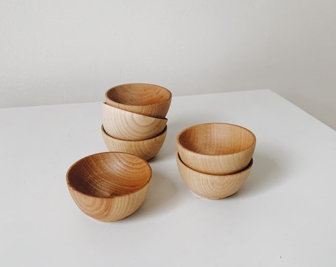 Wooden spice and condiment bowls made in the USA