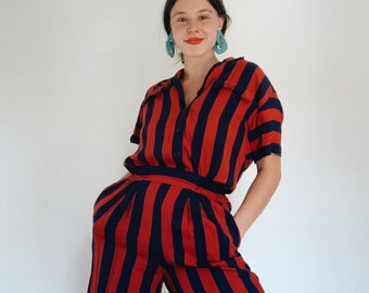 Vintage striped Liz Claiborne short set
