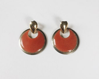 blood orange door knocker earrings | pierced earrings | statement earrings  | ABLE Shoppe