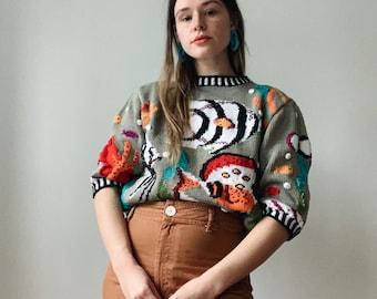 Vintage fish sweater