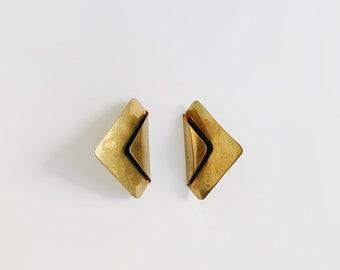 vintage statement earrings | gold earrings | pierced earrings | statement earrings | large earrings | Able Shoppe