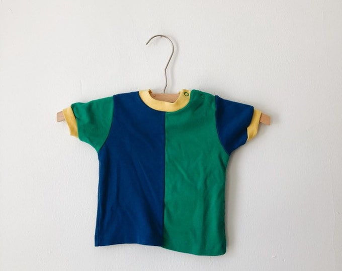vintage 90s color block baby shirt