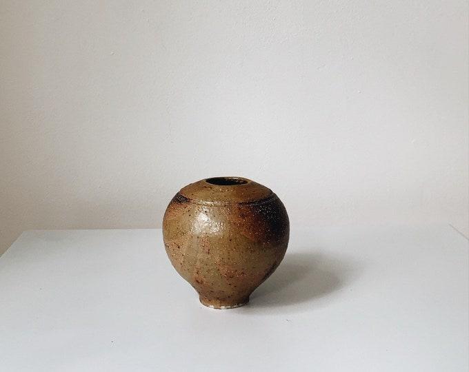 Vintage handmade ceramic vessel