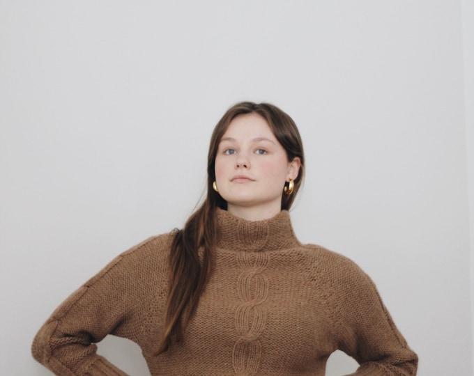 wool mock neck sweater