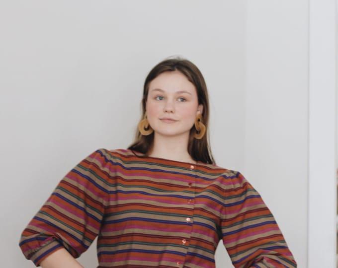 vintage Liz Claiborne blouse   cotton blouse   puffed sleeves blouse