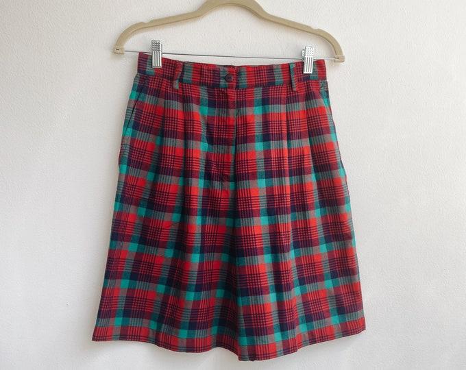 Vintage checkered shorts