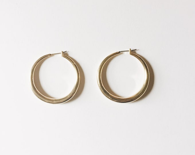 vintage statement earrings | hoop earrings| pierced earrings | statement earrings | gold hoops | Able Shoppe