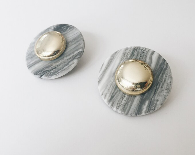 vintage statement earrings | marbled earrings| pierced earrings | statement earrings | large earrings | Able Shoppe