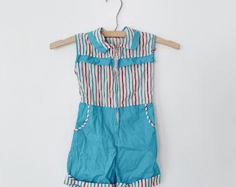 vintage baby striped romper