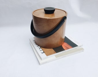 vintage ice bucket | leather ice bucket | mid century modern ice bucket | ABLE SHOPPE