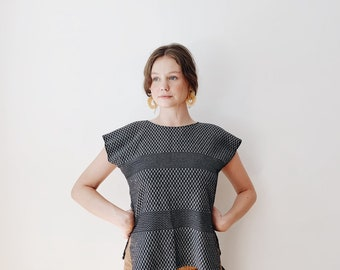 vintage woven top | Ace & Jig style top