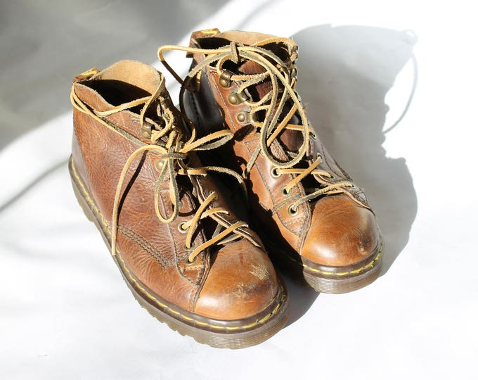 Brown Dr. Martens s | DR. MARTENS made in ENGLAND | Dr. Martens ankle boots | size 8 women's | size 6 mens | leather boots | Able Shoppe