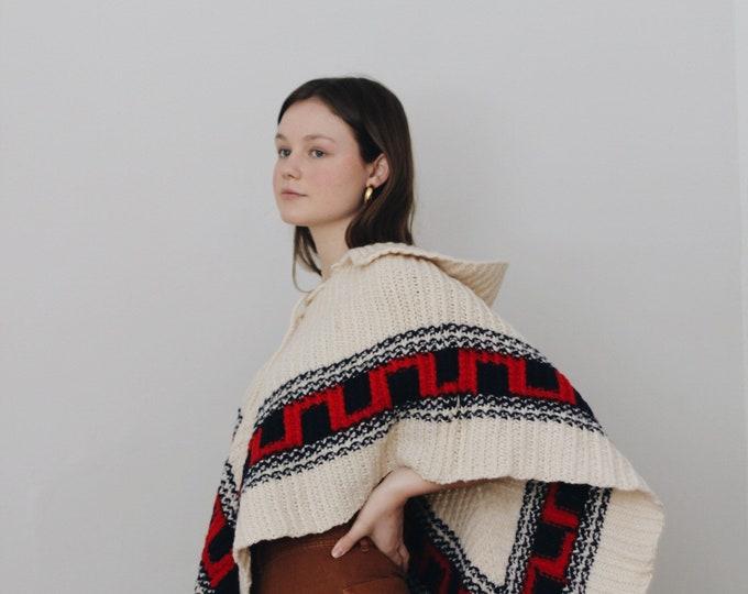 70s knit poncho